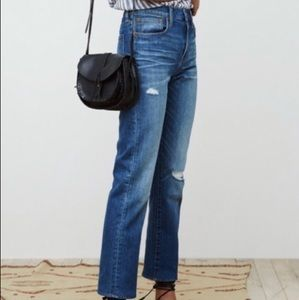 Madewell straight leg crop jeans size 27